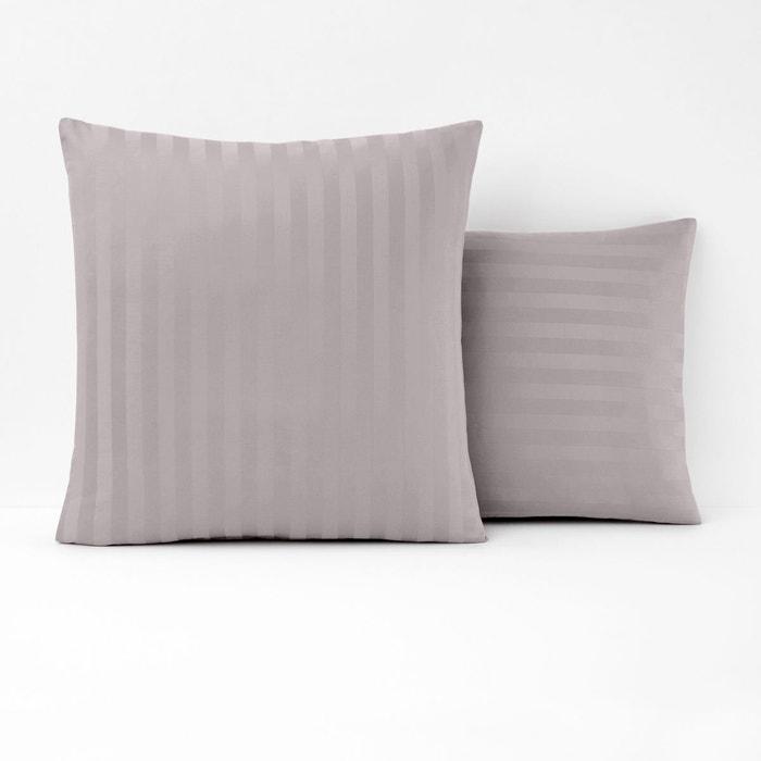 taie d 39 oreiller satin de coton ray la redoute interieurs la redoute. Black Bedroom Furniture Sets. Home Design Ideas