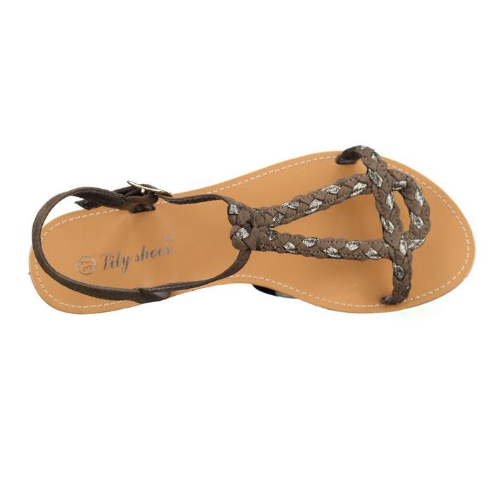 Sandales à tresses vert Leader Mode