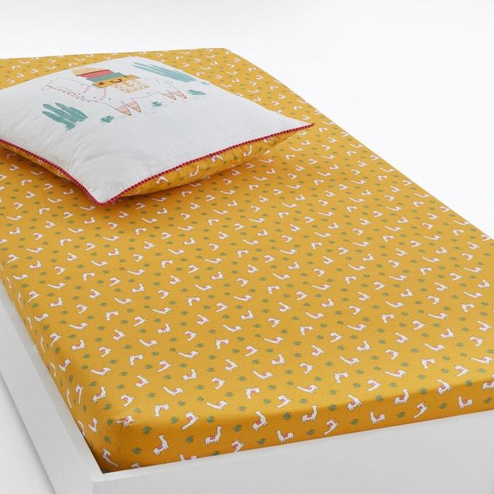Drap housse imprim lama imprim jaune la redoute - La redoute drap housse ...