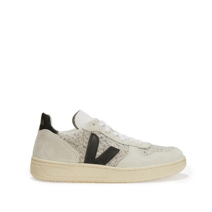 afbeelding Leren sneakers met veters V10 VEJA