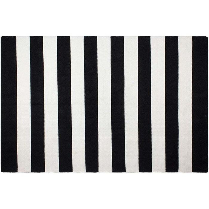 Tapis Interieur Exterieur Nantucket Noir Et Blanc Noir Jardindeco