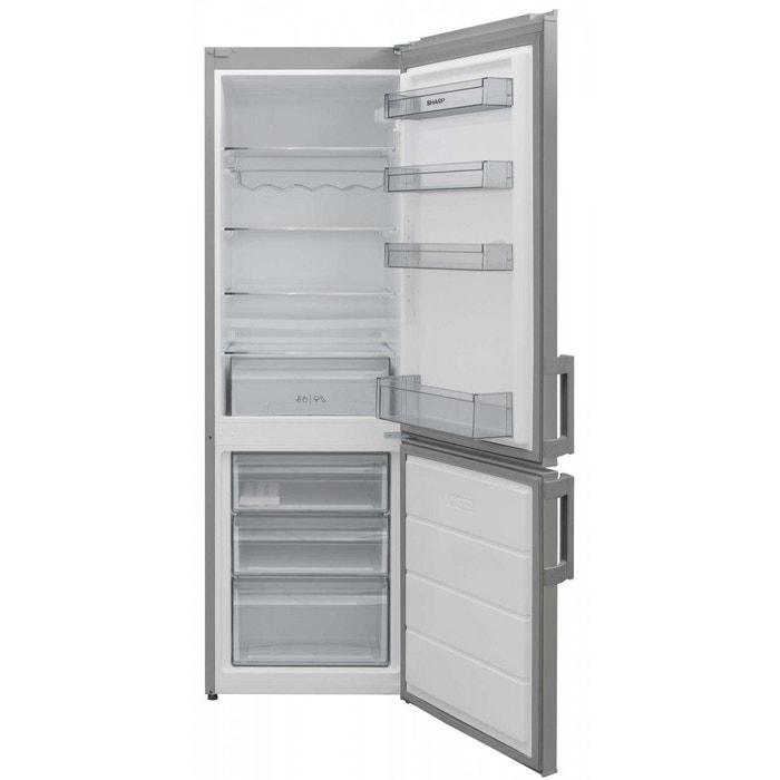 combin frigo cong lateur sjbb 04 nmxs 1 silver sharp la redoute. Black Bedroom Furniture Sets. Home Design Ideas