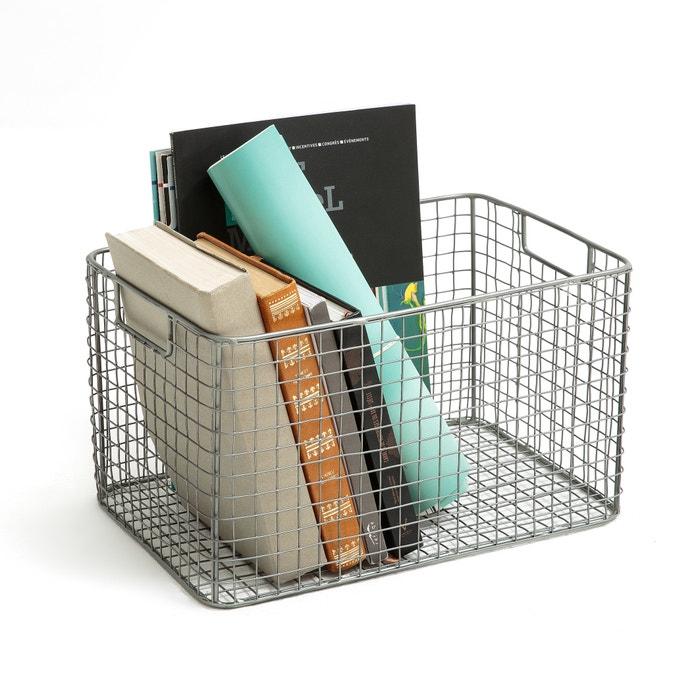 panier de rangement en m tal grillag la redoute. Black Bedroom Furniture Sets. Home Design Ideas
