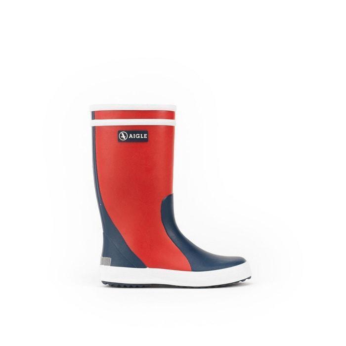 a8e56a63616 Botas de caucho lolly pop col rojo + azul indigo Aigle