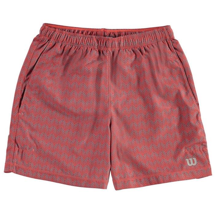 Short sportif taille élastique hot corail Wilson  67973ace655
