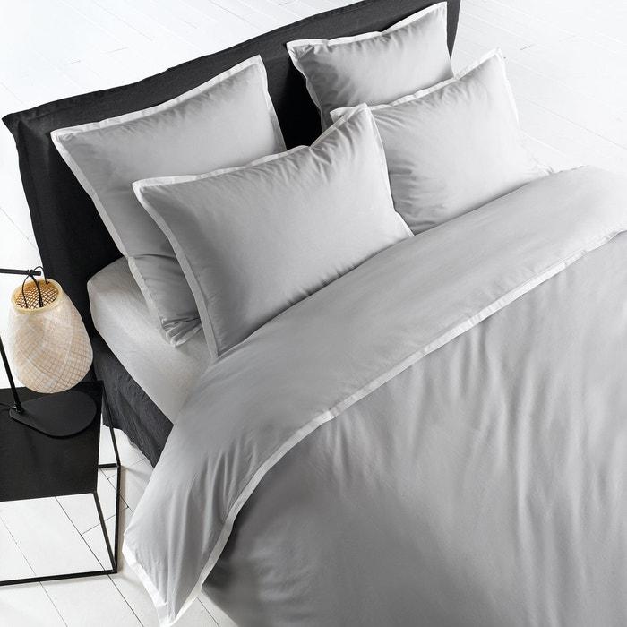 housse de couette percale piaze am pm la redoute. Black Bedroom Furniture Sets. Home Design Ideas