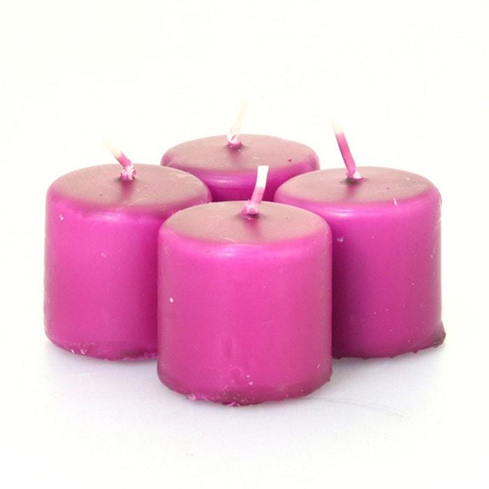 lot de 4 bougies votives violet comptoir des bougies la. Black Bedroom Furniture Sets. Home Design Ideas