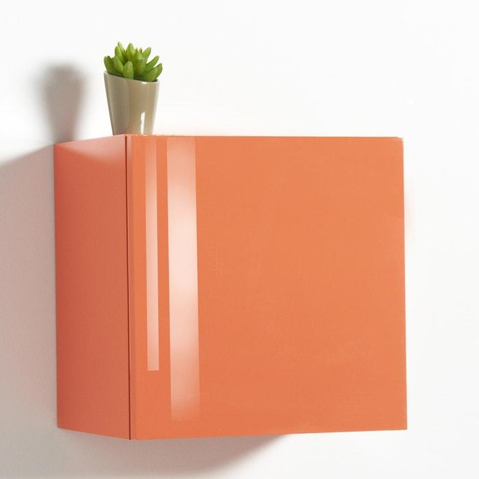 cube de rangement mural high gloss newark la redoute interieurs rose blush la redoute. Black Bedroom Furniture Sets. Home Design Ideas