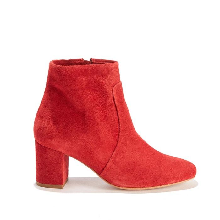 Boots zippées en cuir PETULIA