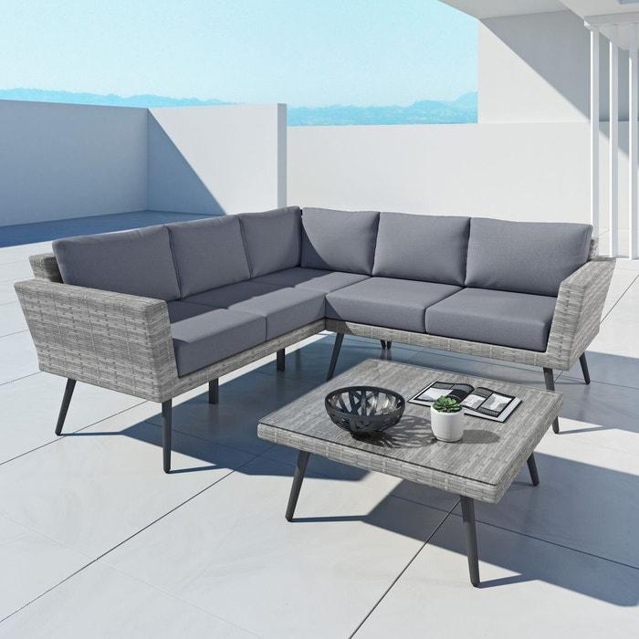ina ensemble salon de jardin scandinave aluminium et. Black Bedroom Furniture Sets. Home Design Ideas