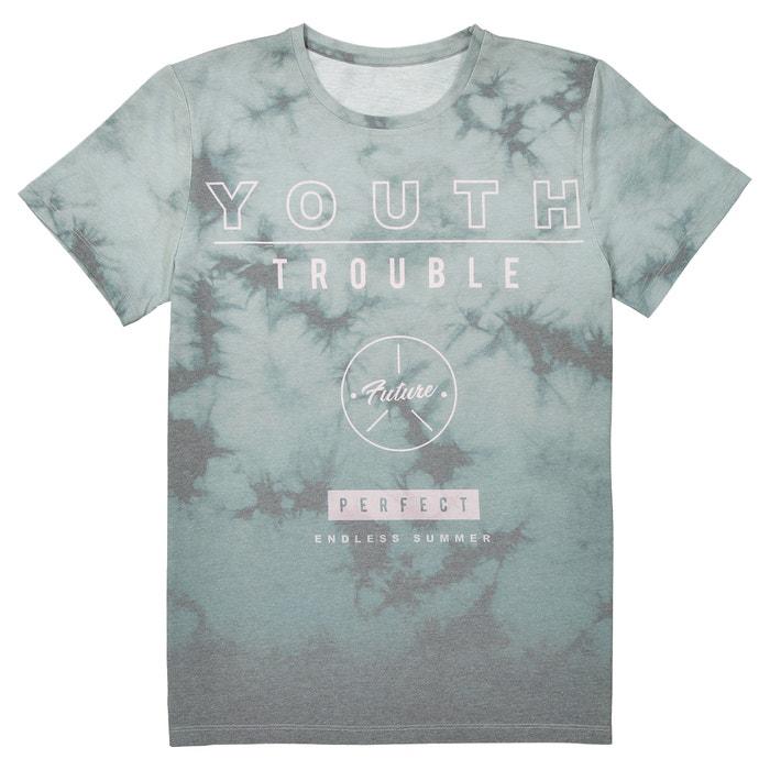 T-shirt scollo rotondo fantasia 10-16 anni  La Redoute Collections image 0