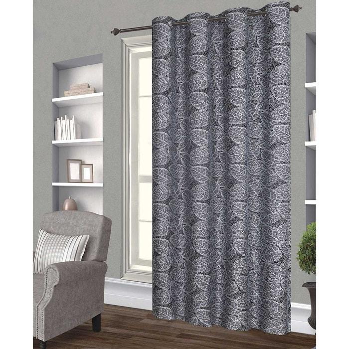 rideau feuilles brod es home maison la redoute. Black Bedroom Furniture Sets. Home Design Ideas