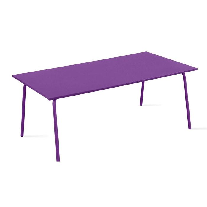table de jardin en m tal design oviala la redoute. Black Bedroom Furniture Sets. Home Design Ideas
