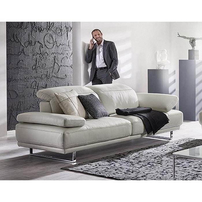 canap cuir design am worldflex blanc seanroyale la redoute. Black Bedroom Furniture Sets. Home Design Ideas