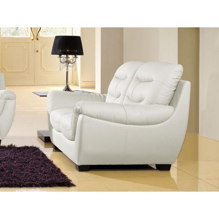 canap cuir 2 places coral blanc la maison du canape la redoute. Black Bedroom Furniture Sets. Home Design Ideas