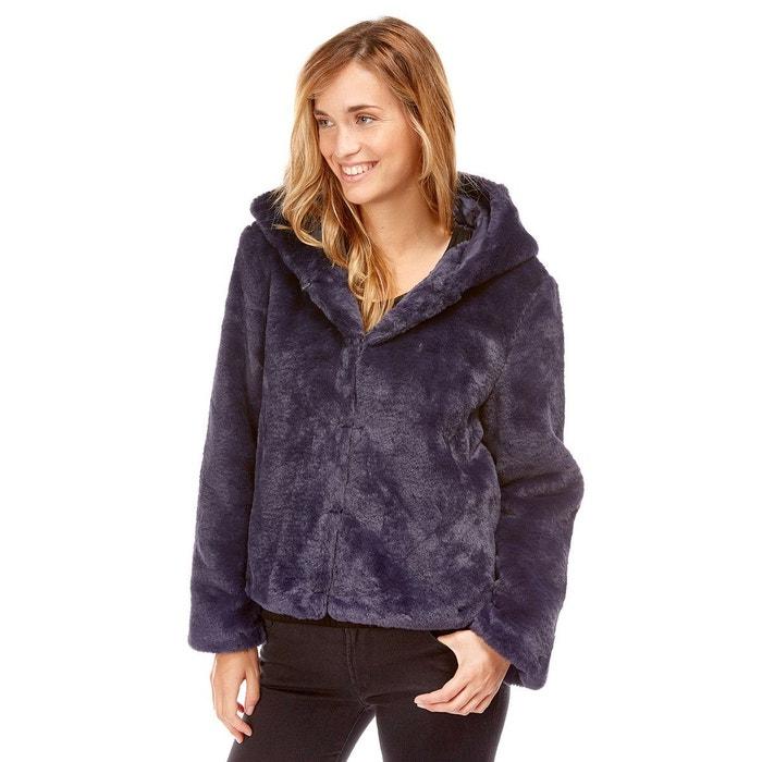 Manteau court à capuche en fausse fourrure Best Mountain   La Redoute d0cd0e82eaef