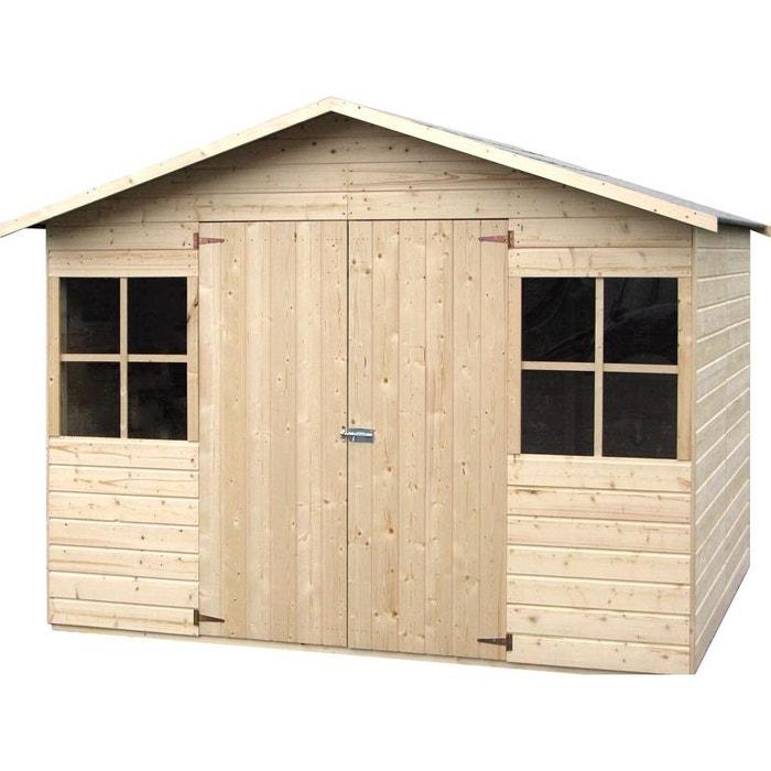 abri de jardin bois lopun 12 mm 4 96 m couleur unique. Black Bedroom Furniture Sets. Home Design Ideas