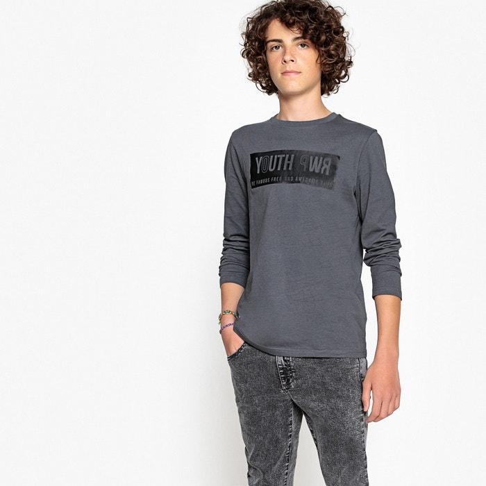 T-shirt scollo rotondo maniche lunghe 10 - 16 anni  La Redoute Collections image 0
