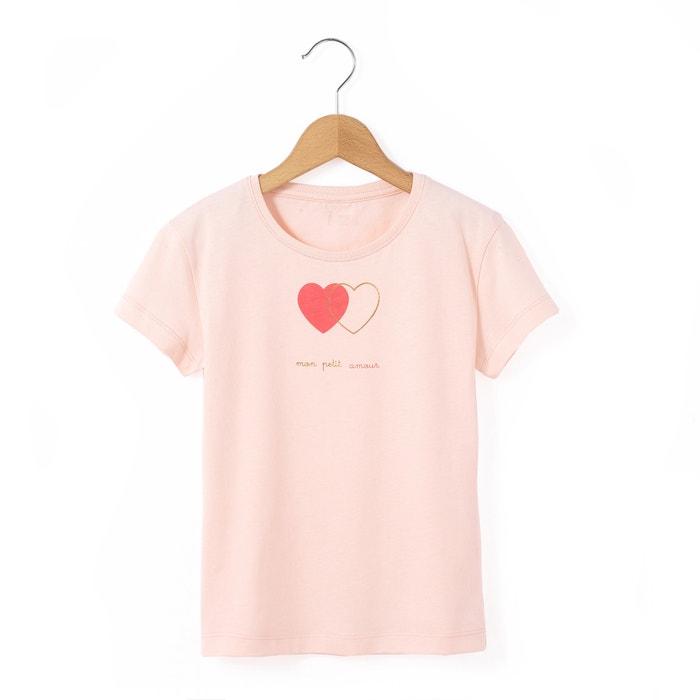 """Imagen de Camiseta """"corazones"""" 3-12 años La Redoute Collections"""