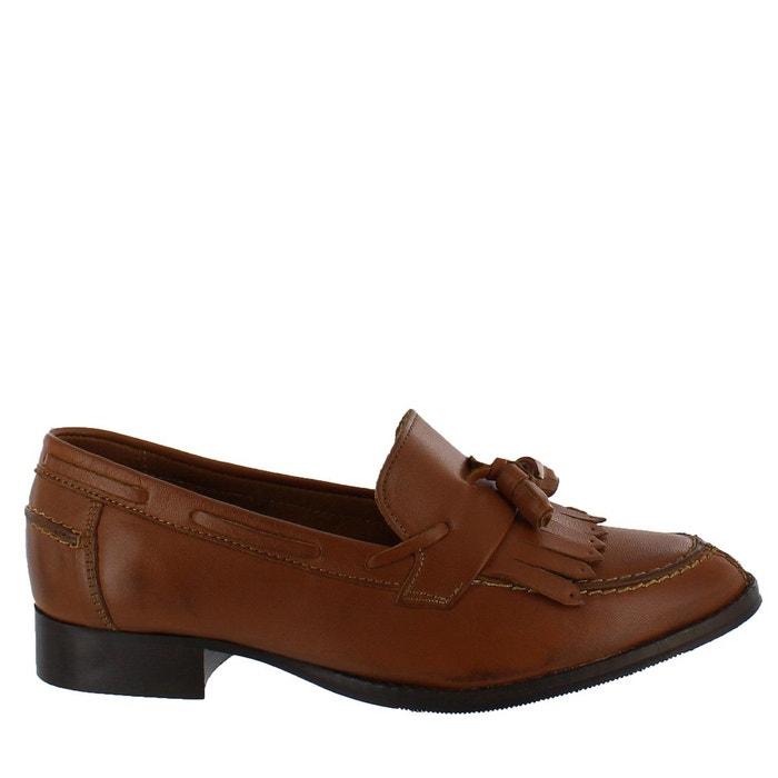Chaussures plates style moccasins à franges noir Marta Jonsson Réduction Confortable R8mEd6z