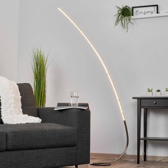 lampadaire led minimaliste madeleine nickel satin. Black Bedroom Furniture Sets. Home Design Ideas