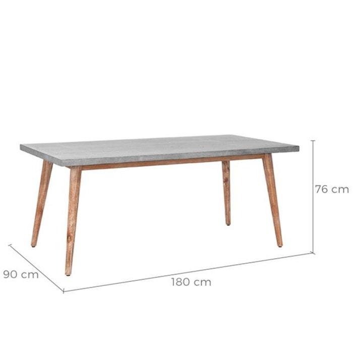 En Rendez Deco Rectangulaire Cm Vous Nosara Table Gris Lavastone 180 BCdexo