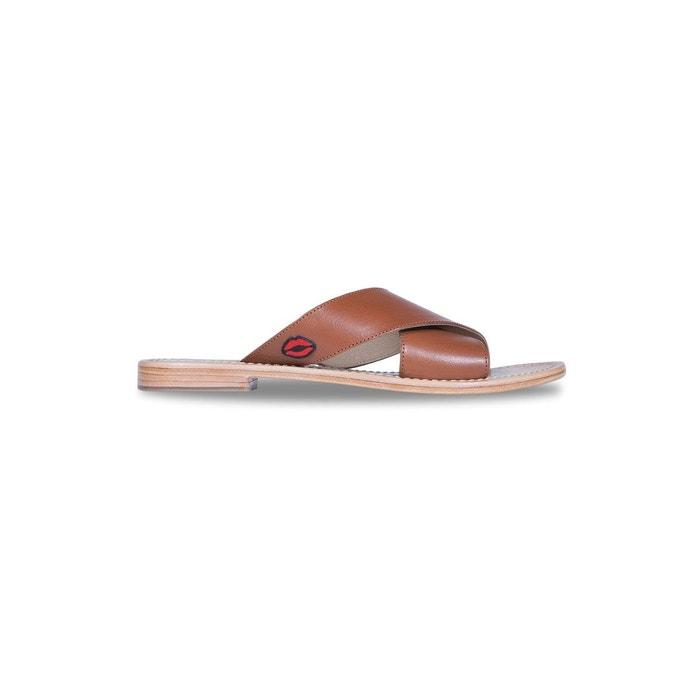 Bons Baisers De Paname Mules MARCELLA COGNAC - Chaussures Sandale Femme