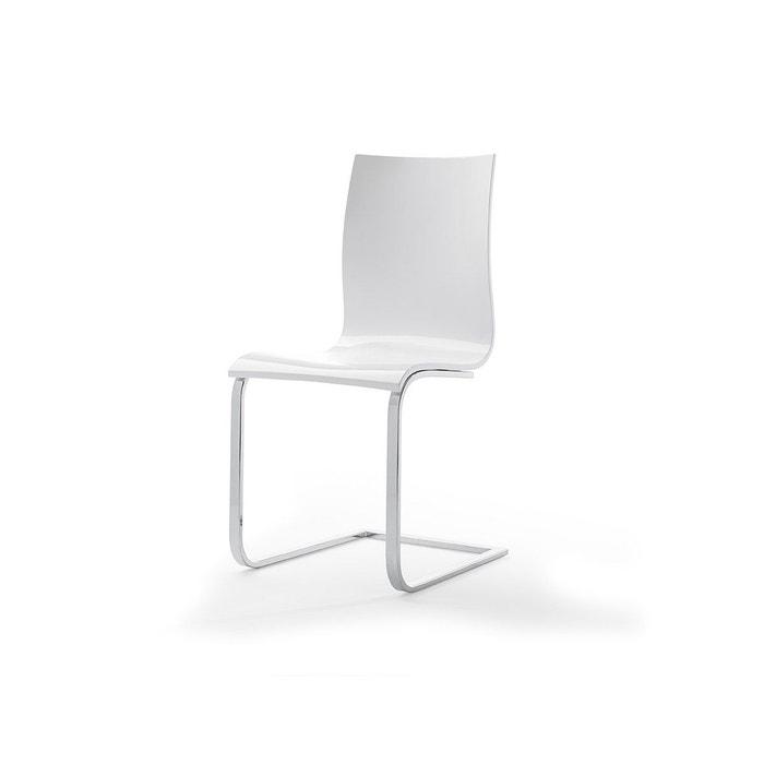 Chaise Laquée Design Collection Contempo Blanc Zendart La Redoute