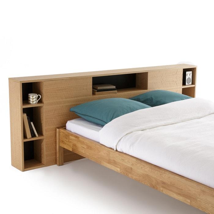 t te de lit xl avec rangements biface bois clair ch ne la redoute interieurs la redoute. Black Bedroom Furniture Sets. Home Design Ideas
