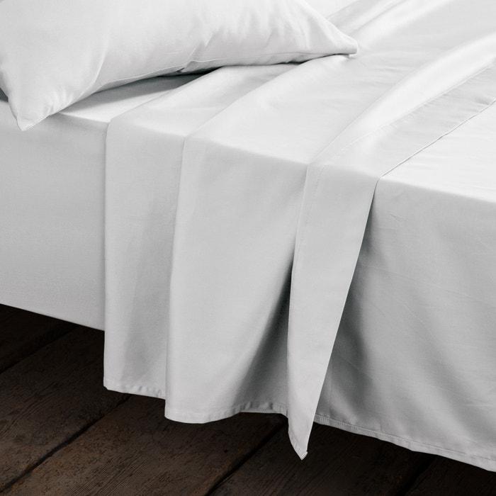 Plain Pure Cotton Satin Flat Sheet  La Redoute Interieurs image 0