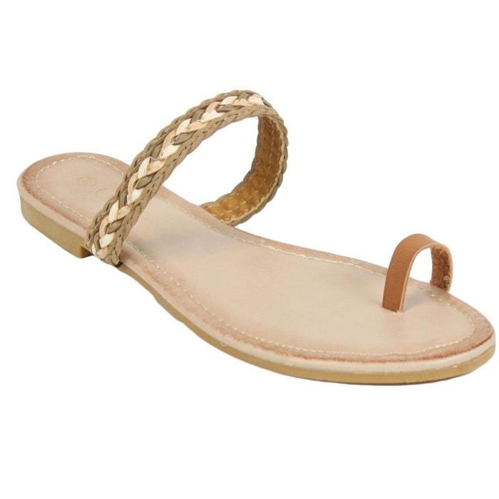 Sandales bb705 beige Kebello