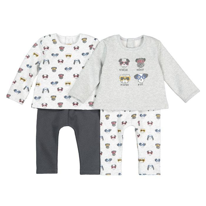 La Redoute Collections Big Boys Pack of 2 Velour Zebra Print Pyjamas Birth-4 Years