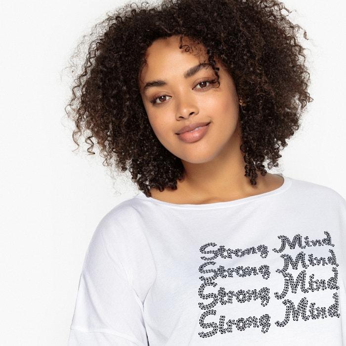Strong Mind Slogan Cotton T-Shirt  CASTALUNA image 0