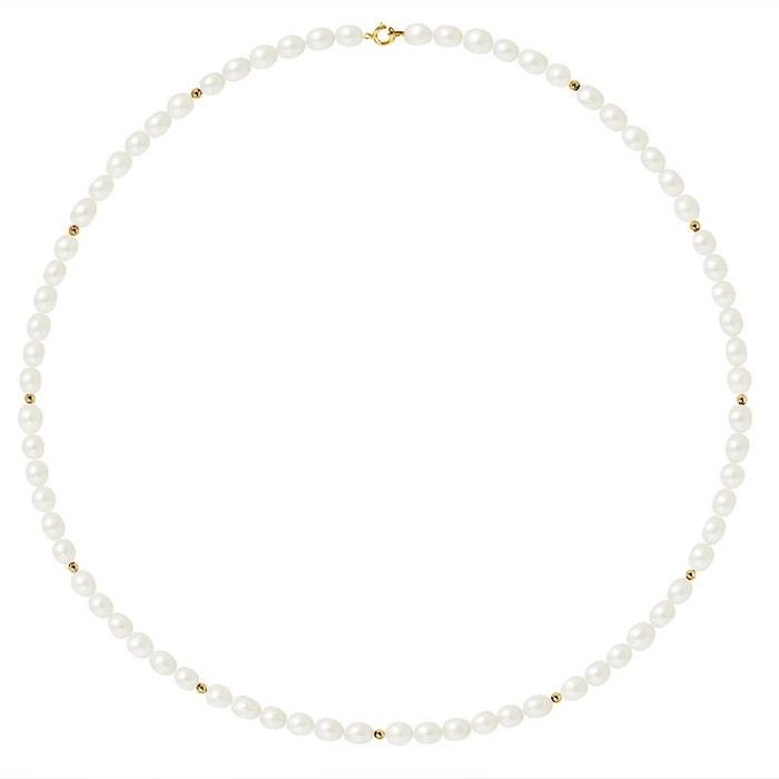 Sortie En Porcelaine Collier or 375°°° rang véritables perles Perlinstinct | La Redoute Acheter Pas Cher 2018 Fiable En Ligne Liquidation Usine D0a6Os4