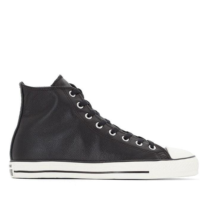 Baskets montantes ctas tumble leather hi noir Converse