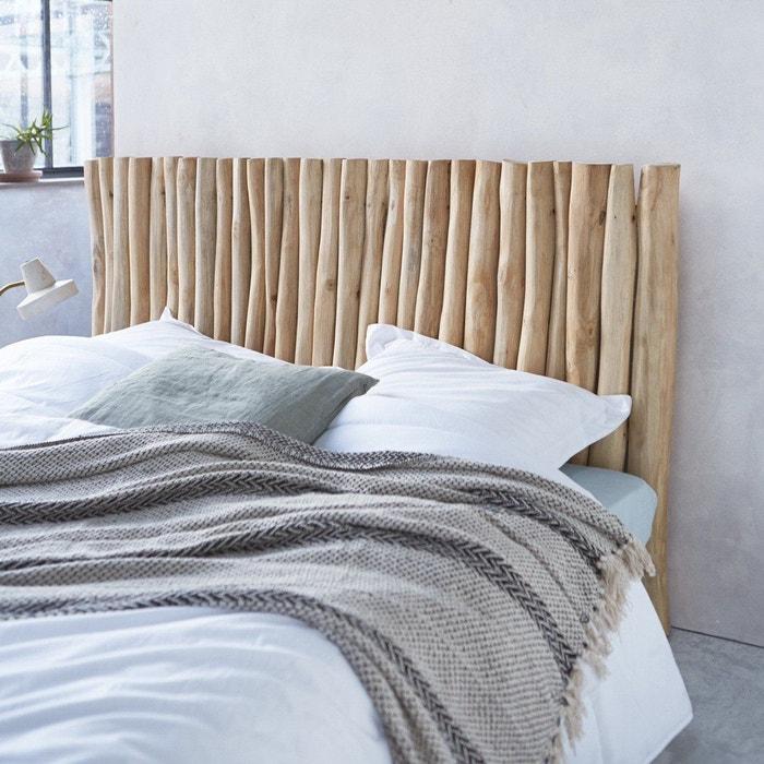 tête de lit en bois de teck flotté 180 river teck flotté tikamoon