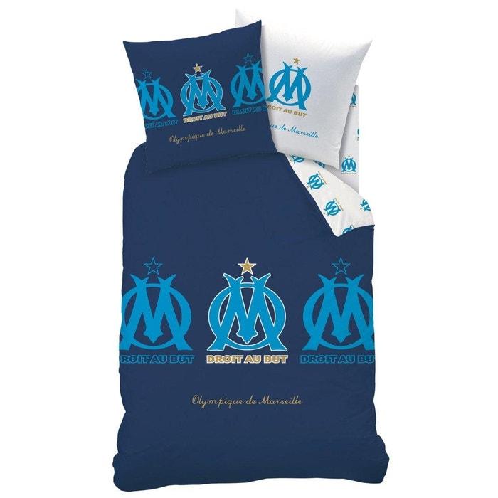 parure de lit olympique de marseille bleu marine olympique de marseille la redoute. Black Bedroom Furniture Sets. Home Design Ideas