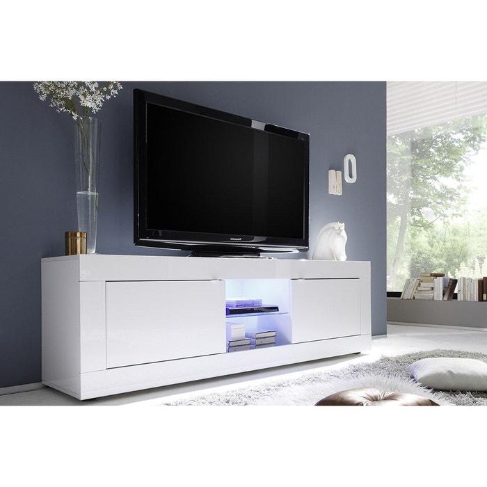 Meuble Tv Design Laqué Blanc 180 Cm Latte Blanc Laqué Miliboo | La Redoute
