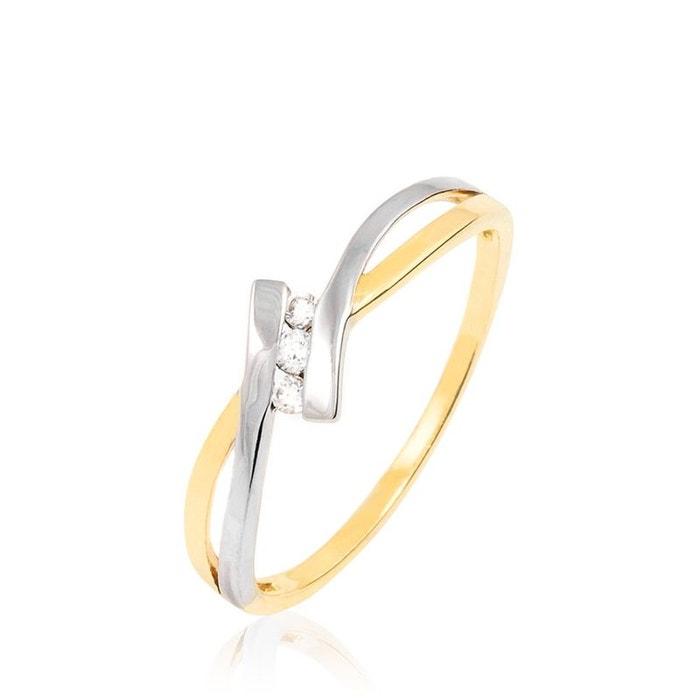 Bague or et diamant bicolore Histoire D'or | La Redoute Jeu 100% Authentique wqQE8jf