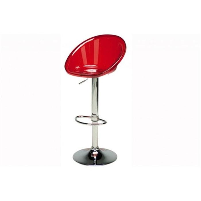 tabouret de bar rouge transparent rome transparent. Black Bedroom Furniture Sets. Home Design Ideas