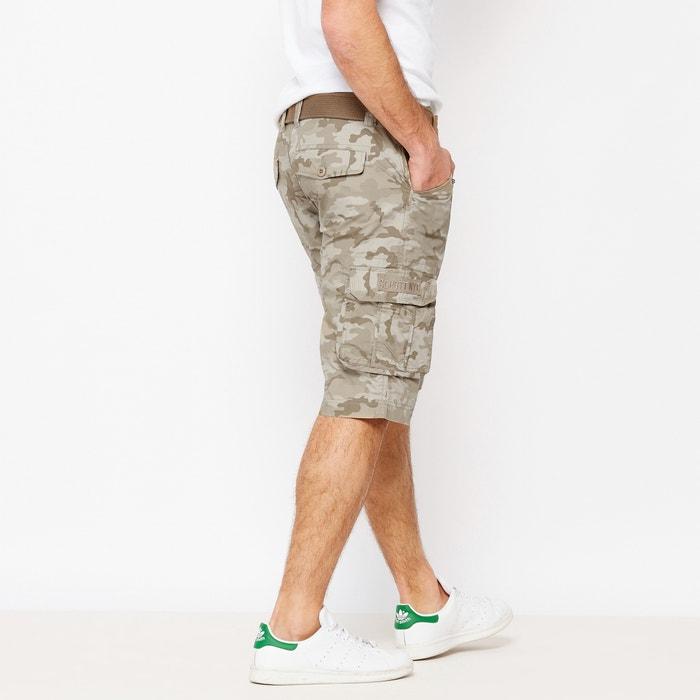 Camouflage Print Bermuda Shorts  SCHOTT image 0