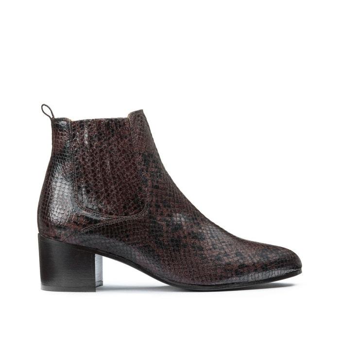 Jonak Boots compensées en croûte de cuir et fourrure, 115