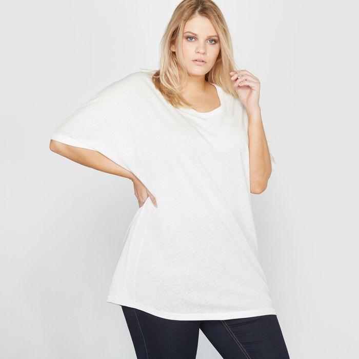 Image Loose-Fit Linen and Cotton T-Shirt CASTALUNA