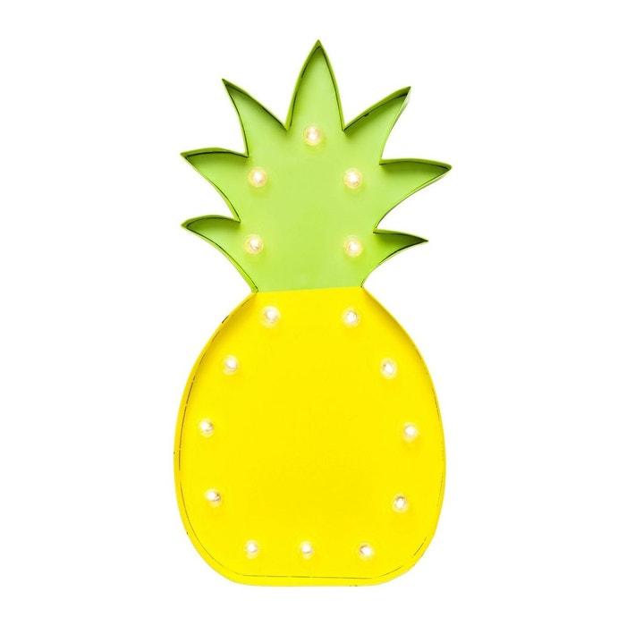 applique murale ananas kare design jaune kare design la redoute. Black Bedroom Furniture Sets. Home Design Ideas