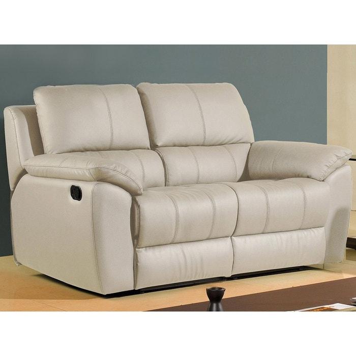 canap cuir 2 places giorgina la maison du canape la redoute. Black Bedroom Furniture Sets. Home Design Ideas
