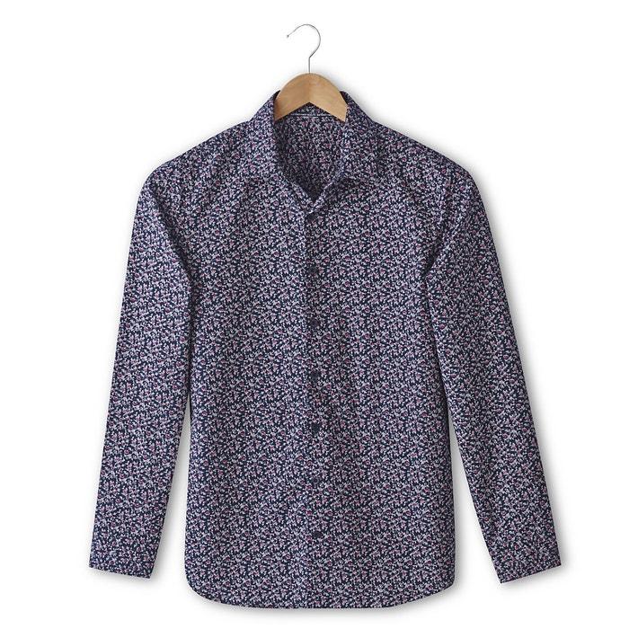 Imagen de Camisa urbana corte slim con estampado 100% algodón La Redoute Collections