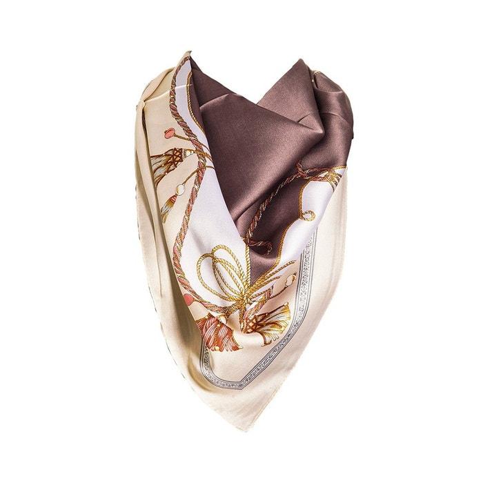 Foulard motif brun avec sa pochette cadeau ecru Versace 19.69   La Redoute Ordre De Vente En Ligne Vente En Gros Prix 45yV1lsm
