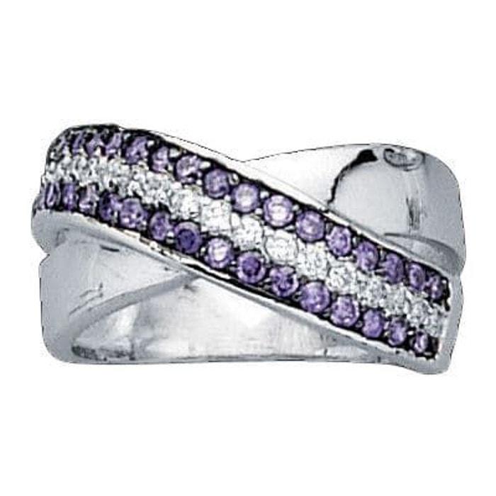 Bague anneau joaillerie oxyde de zirconium blanc amp  violet 10 mm argent  925 couleur unique So Chic Bijoux La Redoute Faux Pas Cher En Ligne Pas  Cher En ... d3e649b47be3