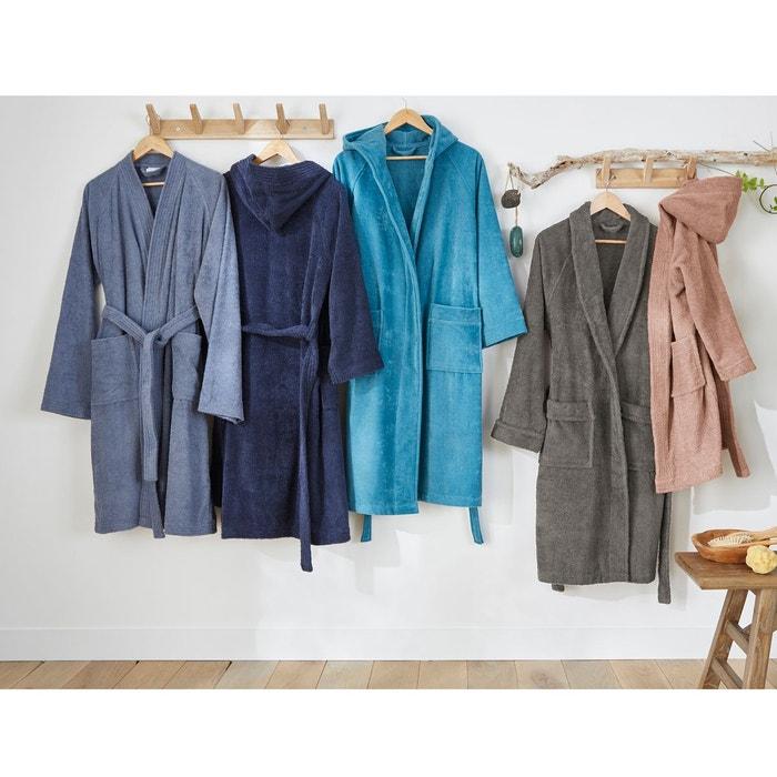 18170ba9cd99e Peignoir éponge col kimono 450g/m² figue La Redoute Interieurs | La Redoute