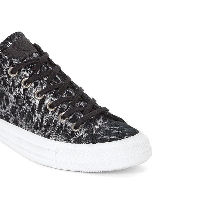 Baskets ctas shimmer suede ox noir Converse